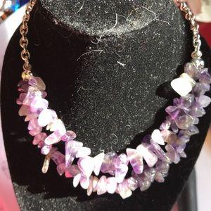 Beautiful Amethyst gemstone necklace